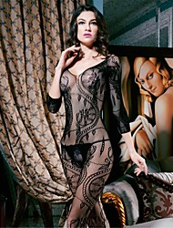 Women Nylon/Spandex Lace Cut Out Sheer Lingerie/Ultra Sexy Teddy Nightwear