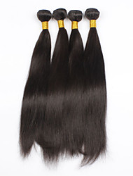 cheap -4Pcs/lot 24inch Raw Brazilian Virgin Hair Natural Black Straight Human Hair Weaving Weft