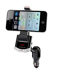 cheap -Bluetooth Handsfree Car Kit , Bluetooth 4.0/FM Transmitter/Car Charger/Mobile Phone Holder