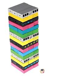 Недорогие -Цвета Jenga дизайн деревянные строительные блоки Jenga набор игрушек для детей