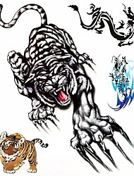 cheap -1PC Large Big Temporary Tattoos Tiger Dragon Pattern Wedding Party Tattoos Fake Tattoos for Body Art(31*21.5CM)