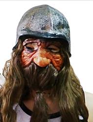Недорогие -длинная борода карлик с шлем латексной маски для Хэллоуина