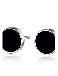 cheap -2016 Korean Women 925 Silver Sterling Silver Jewelry Acrylic Round Earrings Stud Earrings 1Pair