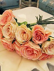 baratos -Ramo Seda Rosas Flor de Mesa Flores artificiais