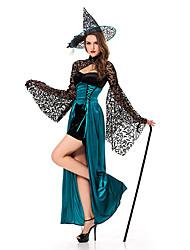 Недорогие -Женский - Волшебники - Halloween - Костюмы - Платье/Шапки -