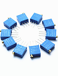 cheap -3296 High Precision 104 100k Ohm Variable Resistor Potentiometer Trimmers - Blue (10 PCS)