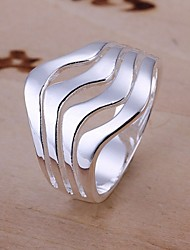 cheap -Women's Statement Ring - Sterling Silver Fashion 8 For Wedding / Party / Daily