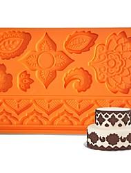 Недорогие -FOUR-C Силиконовые формы цветка помады и sugarpaste мат, торт поставки помадные коврик инструменты резинки паста коврик торт