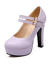 cheap -Women's Shoes Round Toe Chunky Heel Platform Pumps Shoes More Colors available