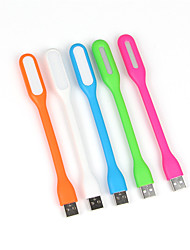 abordables -10pcs 1.2W USB portátil USB LED flexible de luz accionado llevó la lámpara para portátiles Laptops (color al azar)