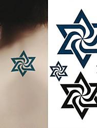 abordables -Tatuajes Adhesivos - Non Toxic/Parte Lumbar/Waterproof - Series de Tótem - Mujer/Hombre/Adulto/Juventud - Negro/Verde - Papel - 1 pc -6*10.5cm