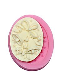 abordables -molde de silicona de silicona campana camafeo molde navidad SM-371