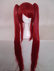Parrucche Cosplay Cosplay Cosplay Rosso Lungo Anime Parrucche Cosplay 100 CM Tessuno resistente a calore Donna