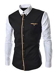 Bigman mænds mode kausal langærmet skjorte