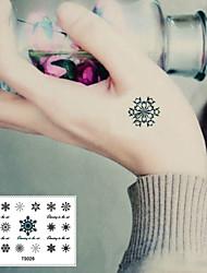 Недорогие -Стикер татуировки Корпус / запястье / лодыжка Временные татуировки 1 pcs Тату с цветами Гладкий стикер / Одноразового использования Искусство тела Рождество / Вечеринка / ужин / Повседневные