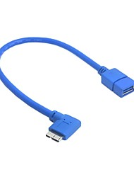 cheap -OTG USB 3.0 A Type Female to Micro B Male 90 degree cable for Galaxy Note3 & S5 20cm