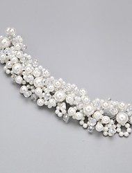 billige -Dame Blomsterpige Legering Imiteret Perle Kvadratisk Zirconium Medaljon-Bryllup Speciel Lejlighed Blomster