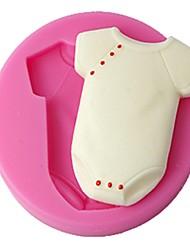 quatre c vêtements de couleur moule en silicone doux bébé gaufrage de moule rose