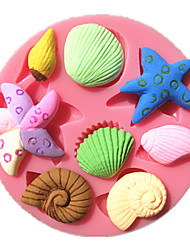 Sea Starfish Snail Conch Shell Fondant Cake Molds Chocolate Mould For The Kitchen Baking For Sugar Candy