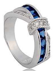 cheap -5 Color Size 6/7/8/9/10 High Quality Women  Rings 10KT White Gold Filled Ring