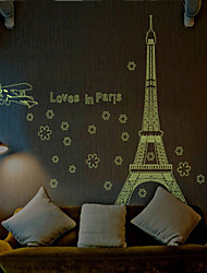 cheap -Still Life Romance Fashion Shapes Architecture Cartoon Holiday Transportation Fantasy Wall Stickers Luminous Wall Stickers Decorative