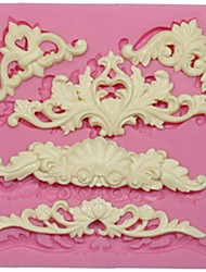 cheap -European Lace Silicone Mold For Fondant Cake Decoration