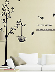 cheap -Decorative Wall Stickers - Words & Quotes Wall Stickers Animals / Still Life / Fashion / Shapes / Words & Quotes / Fantasy / Botanical