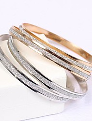 cheap -Women's Bangles Basic Bridal Elegant Simple Style Rose Gold Alloy Circle Jewelry Christmas Gifts Wedding Gift Daily Casual Costume Jewelry