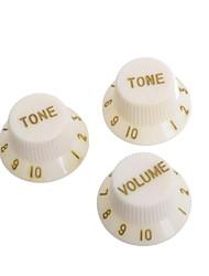 Недорогие -крем&золотой гитара контроля скорости кнопки Ручки горшок крышка для электрической гитары 50set / Много (1 объем&2 тон комплект)