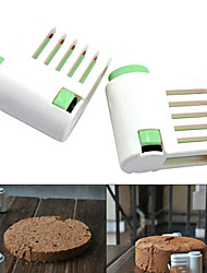 5 Layers Cake Bread Cutter Leveler Slicer Cutting Fixator Tools (Random Color,2 PCS) 6x6x3cm