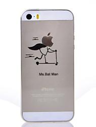 abordables -Coque Pour iPhone 7 Plus iPhone 7 iPhone 5 Apple Coque iPhone 5 Ultrafine Transparente Motif Coque Jeux Avec Logo Apple Flexible TPU pour