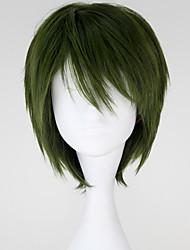 Недорогие -Косплэй парики Косплей Midorima Shintaro Зеленый Короткие платья Аниме Косплэй парики 32 CM Термостойкое волокно Мужской