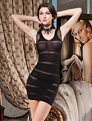 SKLV Women Nylon/Spandex Cut Out Sheer Chemises & Gowns/Lace Lingerie/Ultra Sexy Nightwear