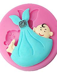 billige -fire-c silikone cupcake skimmel barn kage indretning skimmel kage dekoration, fondant udsmykning værktøjer leverer farve lyserød