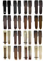 "Angelaicos Women 22"" Long Straight Ribbon Wrap Around Fashion Hairpiece Hair Ponytail Extension Black Brown Blonde"