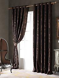 abordables -pays curtains® un panneau café vigne / chenille floral rideau d'occultation