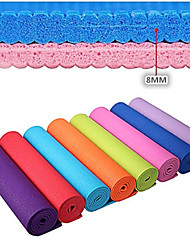 cheap -Extra Thick Slip Resistant Eco-Friendly PVC Yoga Pilates Mat (8mm)