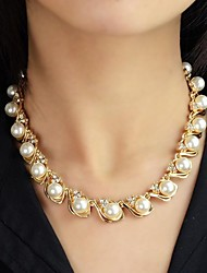 cheap -Women's Strands Necklace / Pearl Necklace  -  Pearl Fashion Necklace For Wedding, Party, Daily