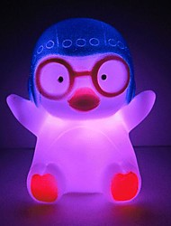 cheap -3pcs Penguin Rotocast Color-changing Night Light(Random Color)