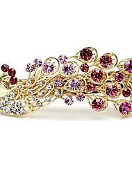 Alliage Pince à Cheveux Violet Rouge Rose Bleu Arc-en-ciel Champagne