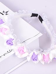 abordables -casco de organza de plástico tocado estilo femenino clásico