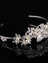 abordables -perle en argent sterling bandeaux strass bandeau élégant style