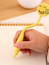 Cute Smiling Face Curve Stylish Multi Color Ballpoint Pen (Random Delivery)