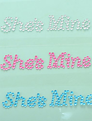 "cheap -""She is Mine"" Crystal Acrylic Shoe Sticker (More Colors) Wedding Favors"