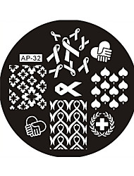 Nail Art Stamp Stamping Image Template Plate AP Series NO.32