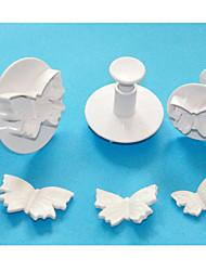 Four-C cortadores de bolo borboleta atuador, ferramentas fondant de alta qualidade, ferramentas pastelaria bolo cortador definido