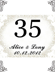 cheap -Personalized Square Table Number Card-Simple  (Set of 10)