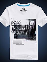 economico -MEN - T-shirt - Informale Rotondo - Maniche corte Cotone organicp
