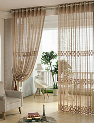 cheap -Rod Pocket Grommet Top Tab Top Double Pleat Pencil Pleat Two Panels Curtain Rococo Baroque European Designer Country Modern Neoclassical