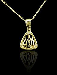 18k реальное позолоченные Аллах мусульманских циркона кулон 3 * 1.7cm